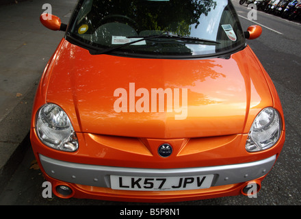 Nice Mega City electric car parked in London street - Stock Photo