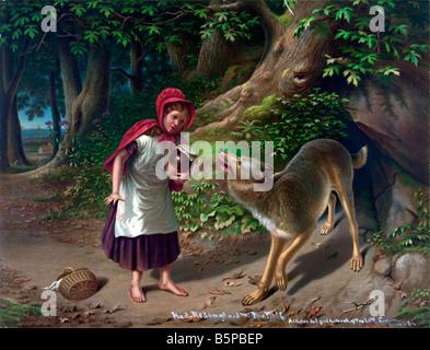 Little Red Riding Hood - Rotkaepchen - Stock Photo