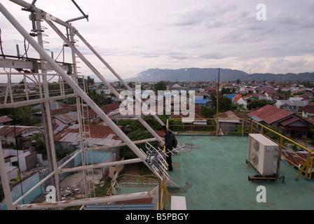 Floating Electric Generator Ship - caused by tsunami located in Kampung Bunge Blangcut, Jayabaru, Banda Aceh, Sumatra, - Stock Photo