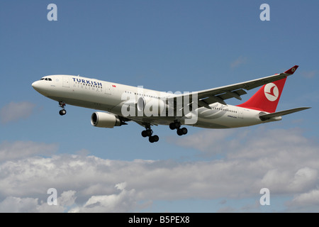 Turkish Airlines Airbus A330-200 widebody airliner on arrival - Stock Photo