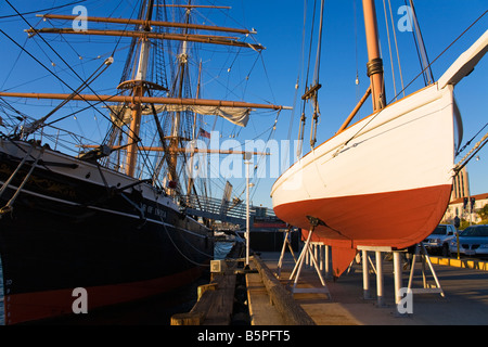 Butcher Boy Star of India Sail Ship Maritime Museum San Diego California USA - Stock Photo
