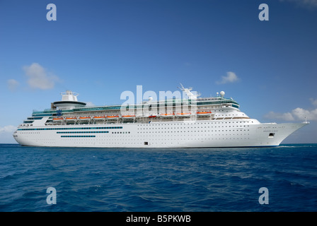 Majesty of the Seas is a Sovereign Class cruise ship owned and operated by Royal Caribbean International. - Stock Photo