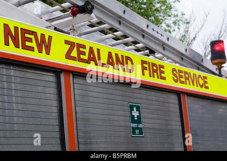 New Zealand fire engine - Stock Photo