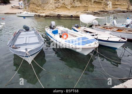 Tiny harbour Pessada, Cephalonia, Greece - Stock Photo