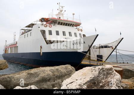 Ferry to Zakynthos - Pessada, Cephalonia, Greece - Stock Photo