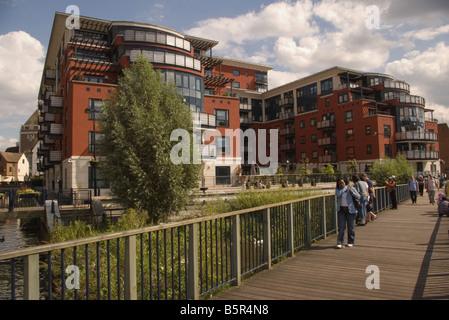 ... Riverside Waterfront Modern Apartments Kingston Upon Thames Surrey    Stock Photo