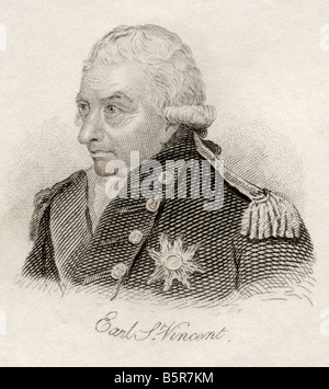 John Jervis 1st Earl of St Vincent 1735 1823 Admiral in the British Royal Navy - Stock Photo
