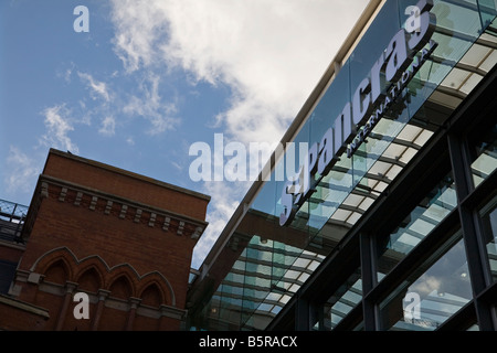 St Pancras International train station London - Stock Photo