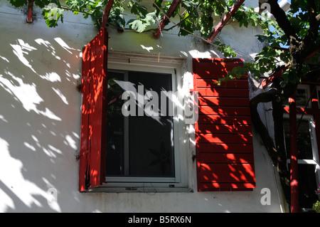 window, Gyri, Zakynthos, Greece - Stock Photo