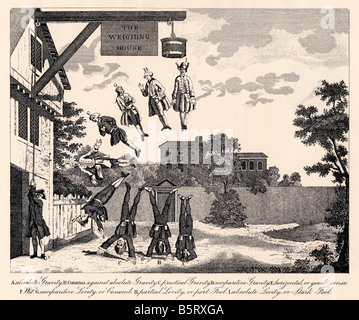 The Weighing House by William Hogarth. Weighing the degrees of dumbness and foolishness - Stock Photo