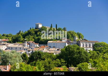 The medieval town of Montaigu de Quercy in Tarn et Garonne, France, Europe - Stock Photo
