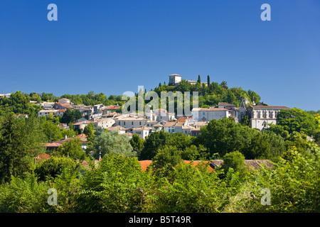 The medieval town of Montaigu-de-Quercy in Tarn et Garonne, Southwest France, Europe - Stock Photo