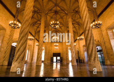 Former a commodity exchange hall La Lonja de la Seda in the historical city centre of Valencia Spain - Stock Photo