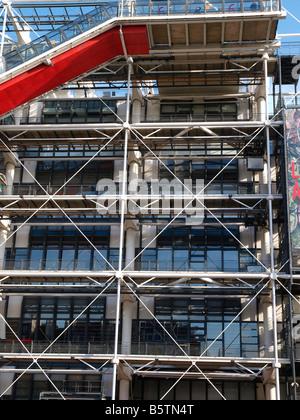 The Postmodern Centre Georges Pompidou houses the Bibliothèque publique d'information and the Musée National d'Art - Stock Photo