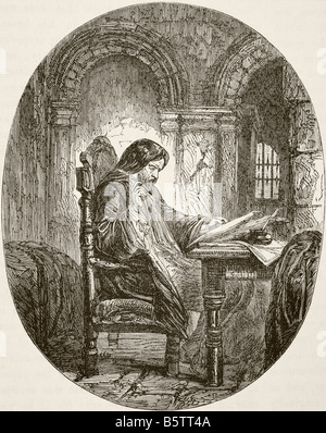 Sir John Eliot 1592 to 1632 English statesman in prison - Stock Photo