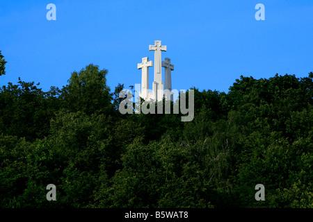 Hill of Three Crosses, Vilnius, Lithuania - Stock Photo