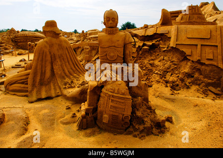 c3po star wars character robot android george lucas R2D2 - Stock Photo