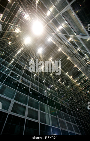 Abstract looking structures and light taken at night in Zagreb Croatia - Stock Photo