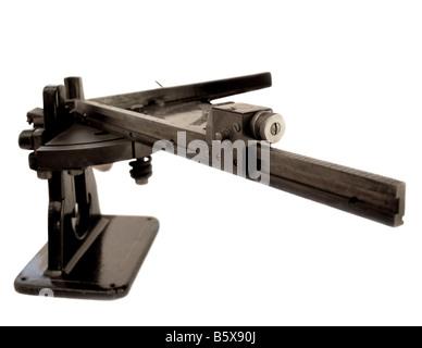 antique corner mitering machine - Stock Photo
