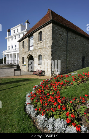 City of Southampton, England. The former medieval Wool House now the Southampton Maritime Museum. - Stock Photo