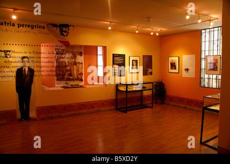 Gallery in the Museo de la Palabra y la Imagen or Museum of Word and Image in San Salvador, El Salvador - Stock Photo