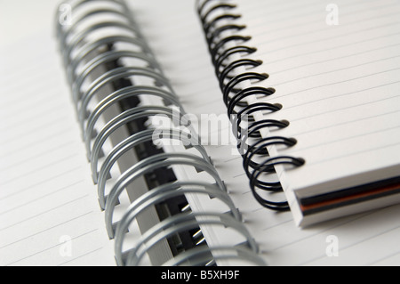 Blank coiled note pads. - Stock Photo