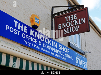 1299 Village Shop Knockin Shropshire UK - Stock Photo