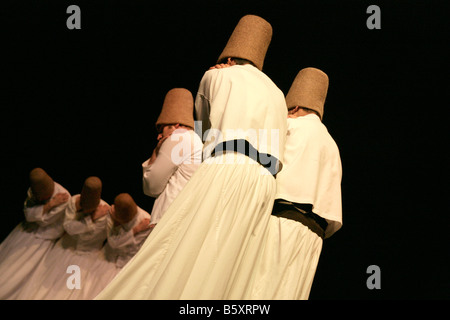 The whirling dervishes, Istanbul, Turkey - Stock Photo