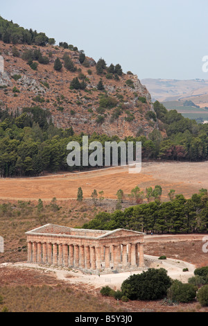 Greek Temple, Segesta, Sicily - Stock Photo