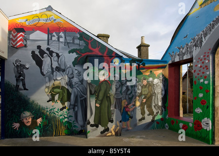 'Off the Wall' commissioned wall paintings and murals at Invergordon  Invernesshire  Scotland  UK - Stock Photo