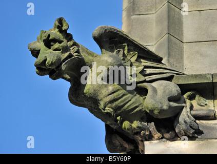 False Gargoyle or Grotesque. Holy Trinity, Kendal Parish Church. Kirkland, Kendal, Cumbria, England, United Kingdom, - Stock Photo