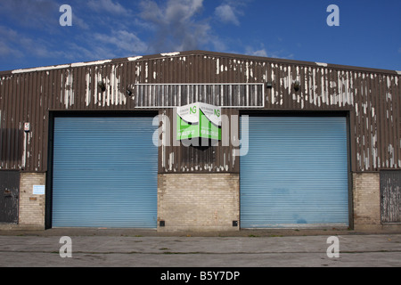 Commercial property to let on an industrial estate in the U.K. - Stock Photo
