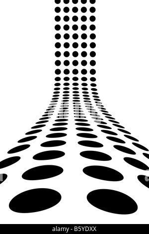 An abstract design template dots forming a 3d wall This makes a great background for advertising
