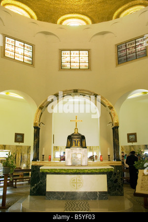 The Interior of the Church at Mount of Beatitudes - Stock Photo