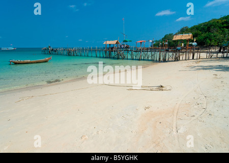 Koh Chang beach Asia Thailand sand boat - Stock Photo
