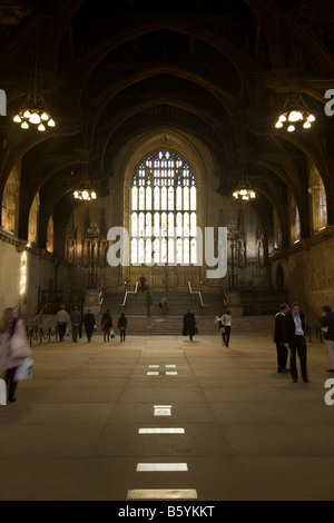 Interior of Westminster Hall, Houses of Parliament, Westminster ...
