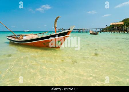 Koh Chang boat wooden ship Asia Thailand - Stock Photo