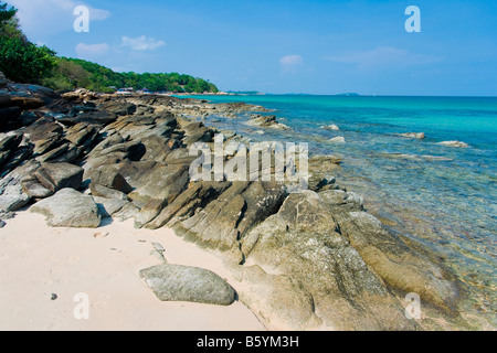 Koh Chang Asia Thailand beach natur stone - Stock Photo
