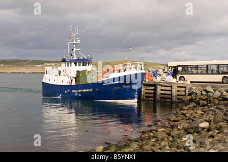 The Good Shepherd IV boat that serves Fair Isle docked at Grutness ...