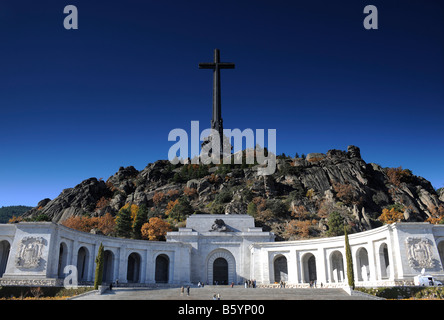 The Valle de los Caidos monument outside Madrid, Spain - Stock Photo