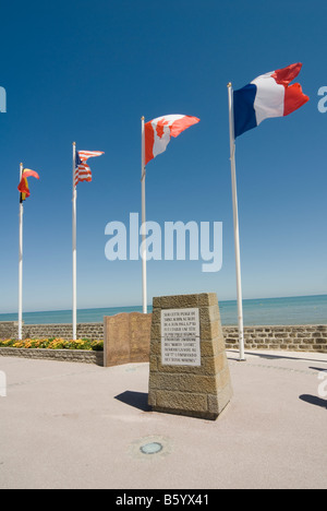 Operation Overlord monument at Langrune sur Mer Normandy France - Stock Photo