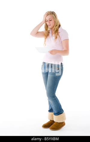 Portrait Of A Teenage Girl - Stock Photo