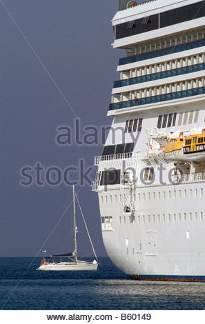 Cruise Ships Size Contrast Comparison Large Small Tall