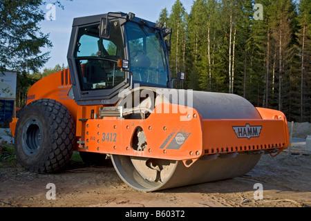 Hamm 3412 compactor ,  road roller , drum roller - Stock Photo