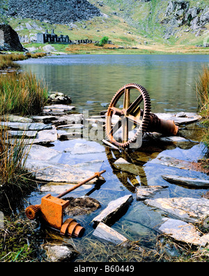 Industrial Remains at Cwm Orthin. Snowdonia National Park. North Wales. - Stock Photo