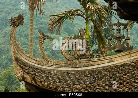 Vietnam  mountain old  isolated illustration art boat tree - Stock Photo