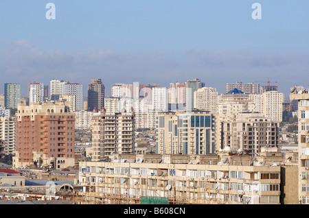 View on the city center. Baku, Azerbaijan. - Stock Photo