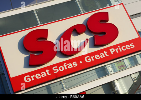 SCS retail outlet on a retail park in Nottingham, England, U.K. - Stock Photo