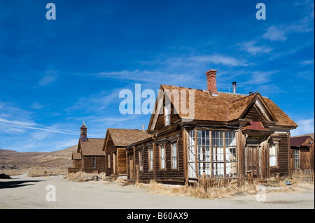 J S Cain House, Green Street, 19thC gold mining ghost town of Bodie near Bridgeport, Sierra Nevada Mountains, California, - Stock Photo