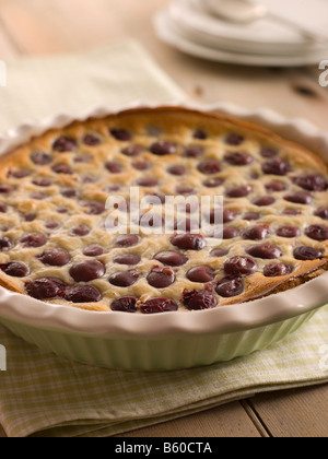 Black Cherry Clafoutis - Stock Photo